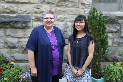 Rachel Lee - Recipient of 2015 Bursary,  Presented by Lydia Haight