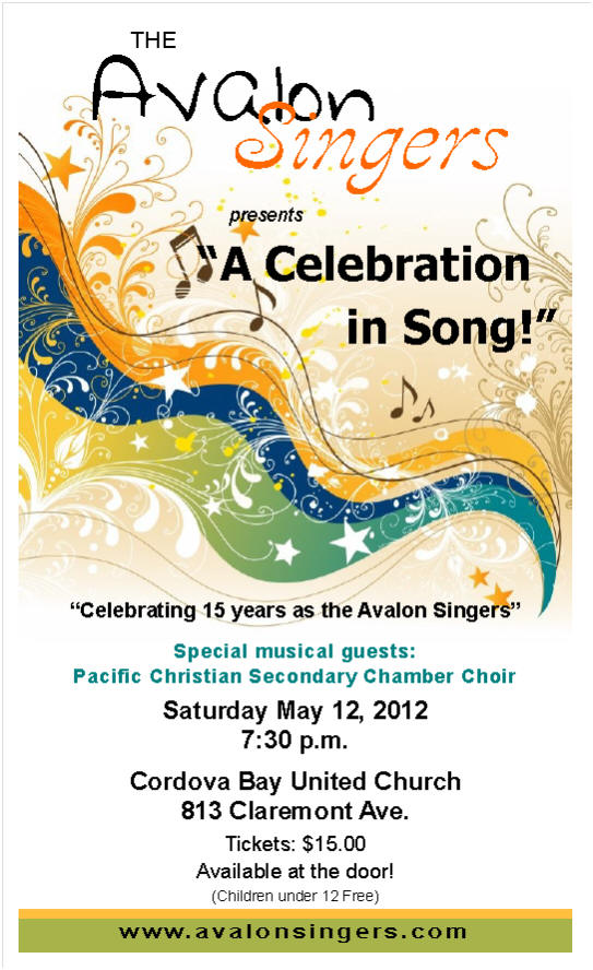 Avalon Singers 15th Anniversary Spring Concert